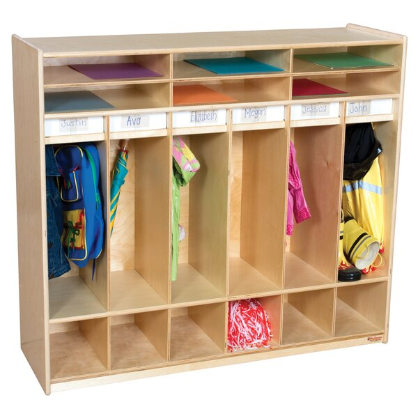 6 Section Coat Locker by Wood Designs
