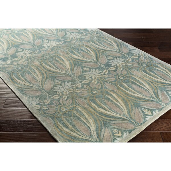 Acton Hand-Tufted Blue/Gray Area Rug by Alcott Hill