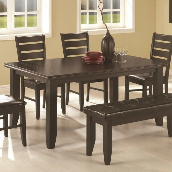 Jefferson Place Semi-Formal Solid Wood Dining Table by Winston Porter