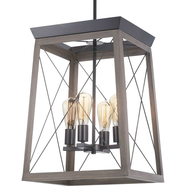 Delon 4 - Light Lantern Square Chandelier by Laurel Foundry Modern Farmhouse Laurel Foundry Modern Farmhouse