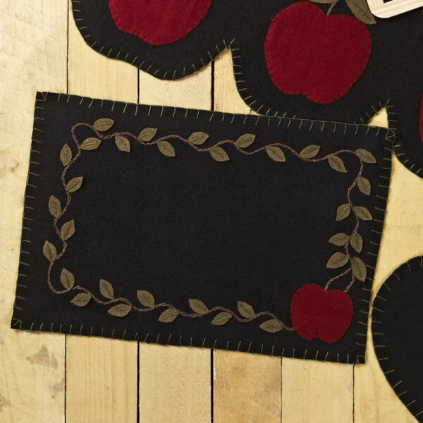 Mclea Felt Appliqued Border Placemat (Set of 6) by August Grove