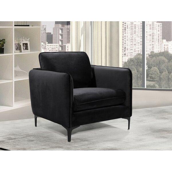 Harbison Velvet Barrel Chair by Mercer41