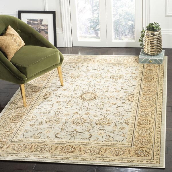 Lavelle Grey/Ivory Area Rug by Charlton Home