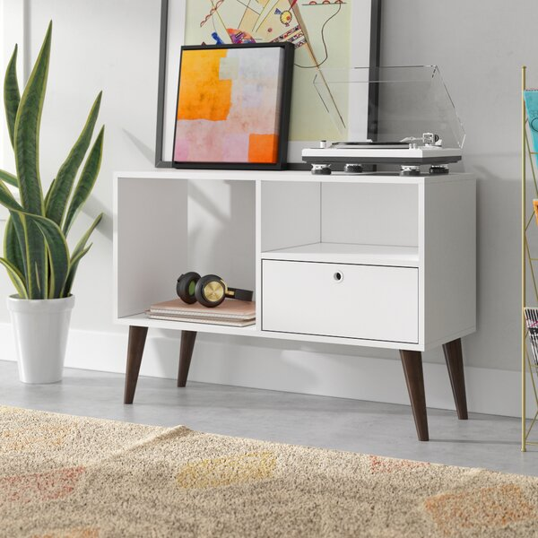 Vreeland 35.43 TV Stand with 1 Drawer and 2 Shelves by Wrought Studio