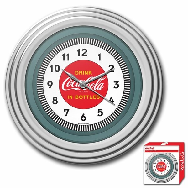 Coca Cola 11.75 1930s Style Wall Clock by Trademark Global