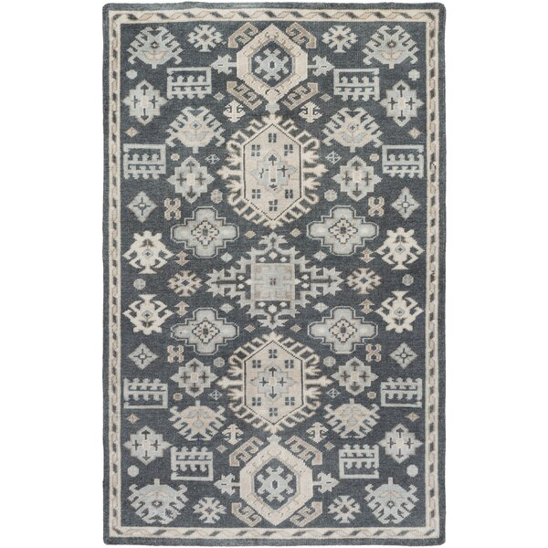 Bronwood Ivory/Slate Area Rug by Bungalow Rose