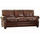 Lyndsey Leather Sofa by 17 Stories