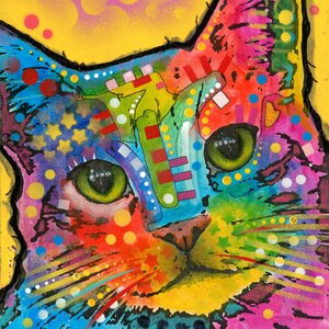 'Tilt Cat' Painting Print on Wrapped Canvas by East Urban Home