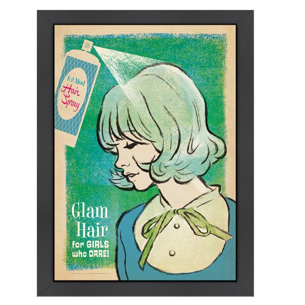 Mod Hairspray Framed Vintage Advertisement by East Urban Home
