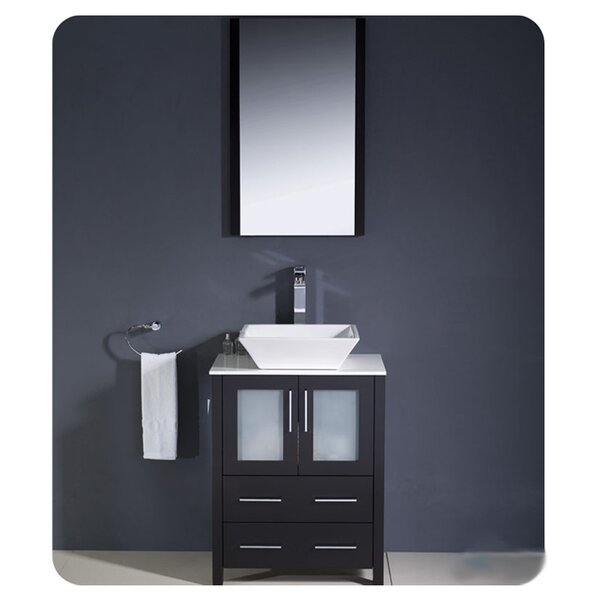 Torino 24 Single Bathroom Vanity Set with Mirror by FrescaTorino 24 Single Bathroom Vanity Set with Mirror by Fresca