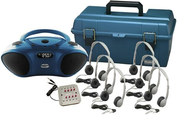 6 Person Bluetooth/CD/FM Listening Center with Per