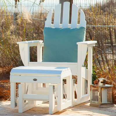 Classic Adirondack Plastic Glider Adirondack Chair POLYWOOD® Color: White