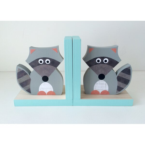 Raccoon Bookend (Set of 2) by Maple Shade Kids