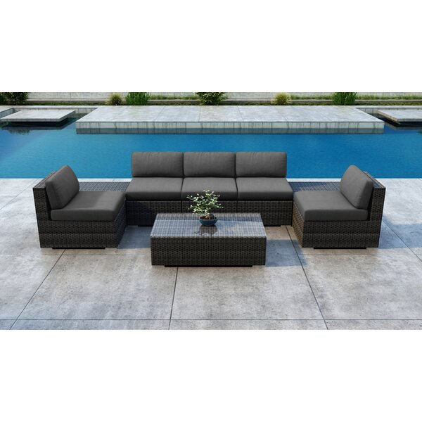 Gilleland Sunbrella Sectional Seating Group with Cushion by Orren Ellis