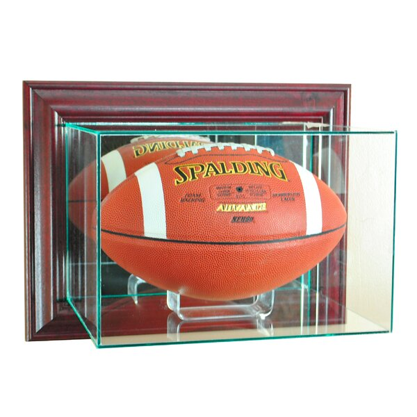 Wall Mounted Football Display case by Perfect Cases