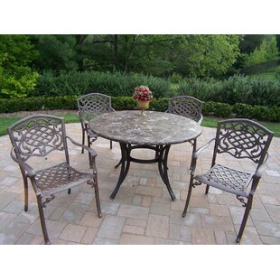 Stone Art 5 Piece Dining Set By Oakland Living
