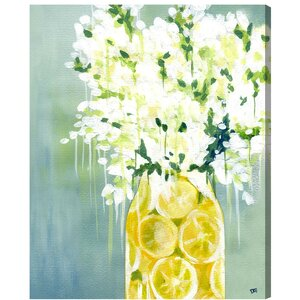 'Limoncello' Graphic Art on Wrapped Canvas by Willa Arlo Interiors