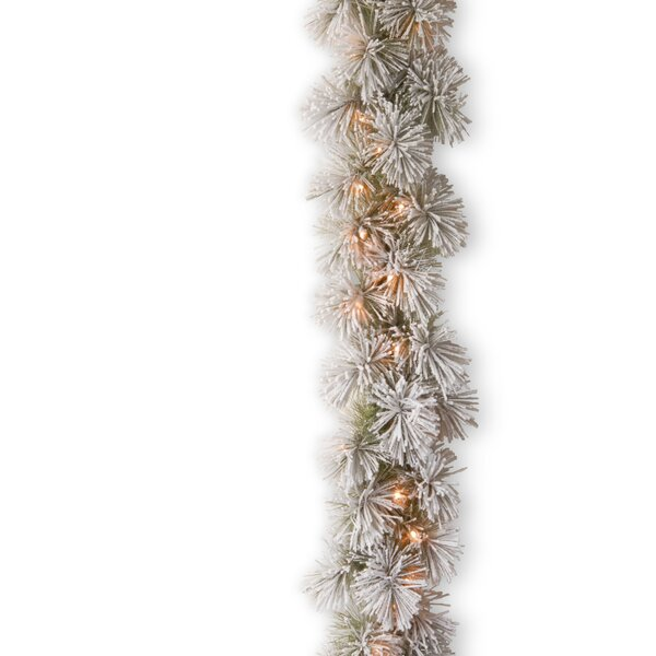 Snowy Bristle Pine Garland by National Tree Co.