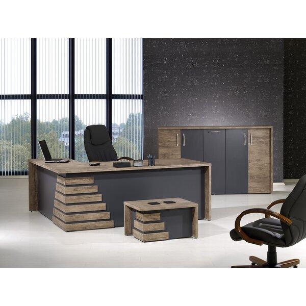Whitewood Modern 3 Piece L Shaped Desk Office Suite by Orren Ellis