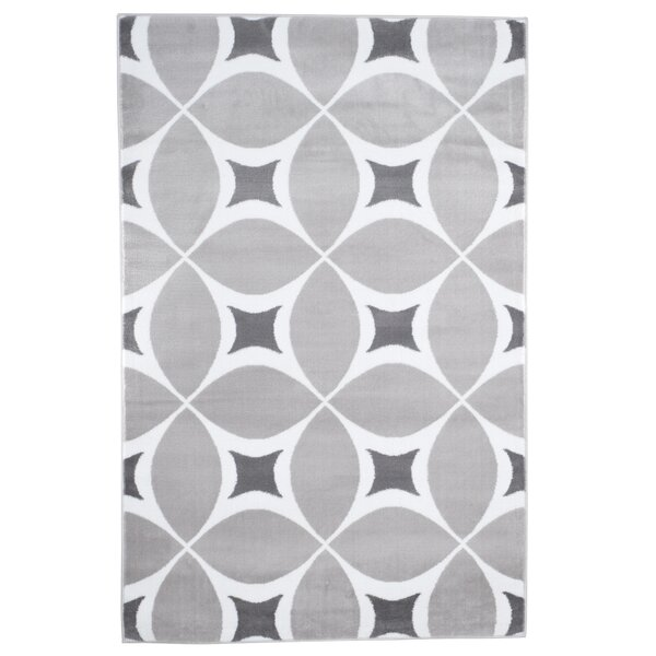 Geometric Gray Area Rug by Plymouth Home