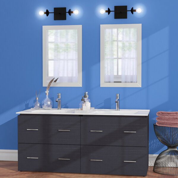 Maryalice Wall Mount 48 Double Bathroom Plywood Vanity Set by Royal Purple Bath Kitchen