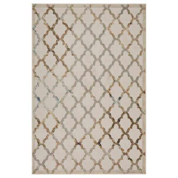 Archimbald Lattice Cream Area Rug by House of Hampton