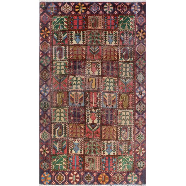 One-of-a-Kind Millay Sherazi Mina Hand-Knotted Wool Brown Area Rug by Bloomsbury Market