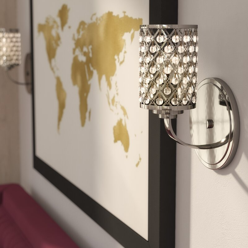 Senters 1-Light Wall Sconce & Willa Arlo Interiors Senters 1-Light Wall Sconce u0026 Reviews | Wayfair azcodes.com