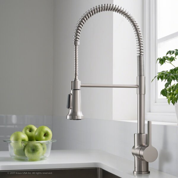 Britt™ Commercial Pull Down Single Handle Kitchen Faucet with Dual Function by Kraus