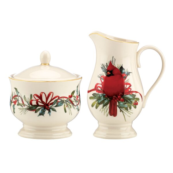 Winter Greetings Sugar and Creamer Set by Lenox