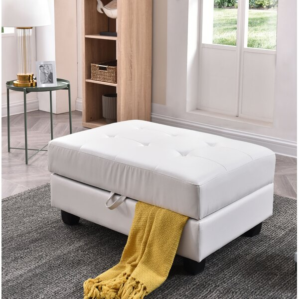 Bruns Tufted Storage Ottoman by Winston Porter