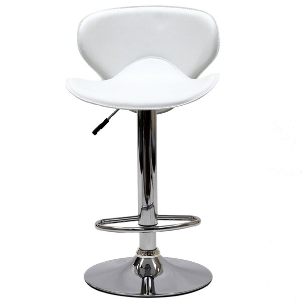 Lottie Adjustable Height Swivel Bar Stool by Wade Logan