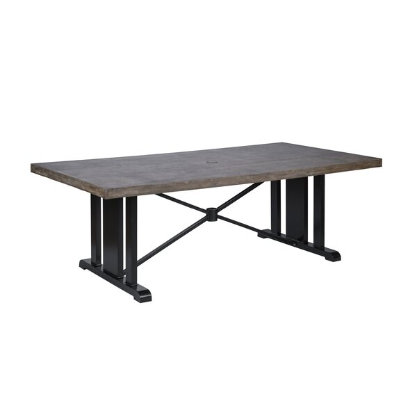 Duncombe Aluminum Dining Table by Darby Home Co
