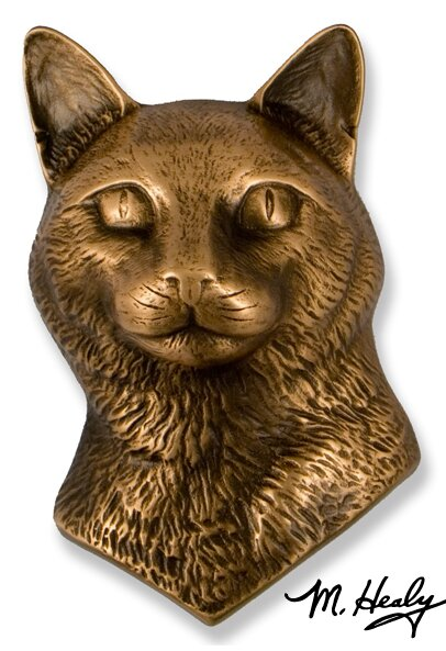 Cat Door Knocker by Michael Healy Designs