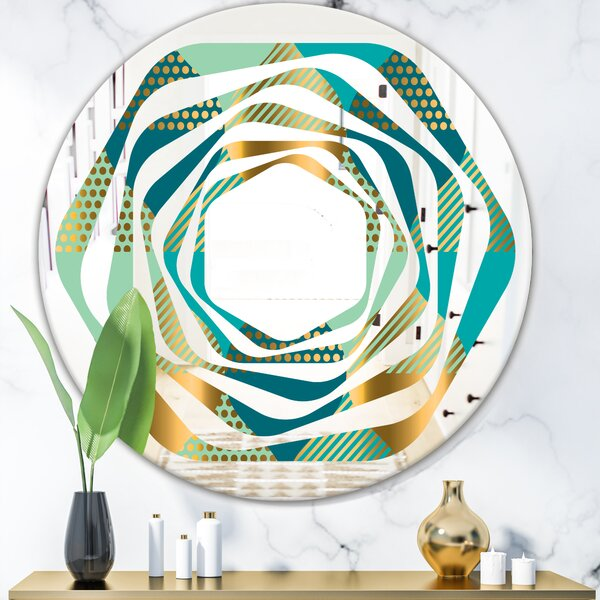 Whirl Luxury Drops II Modern Wall Mirror