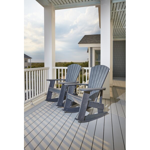 William Adirondack Rocking Chair by Beachcrest Home