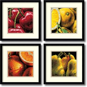 'Fruit' by Alma'Ch 4 Piece Framed Graphic Art Set by Amanti Art