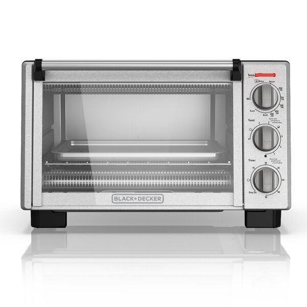 6-Slice Stainless Steel Countertop Toaster Oven by Black + Decker
