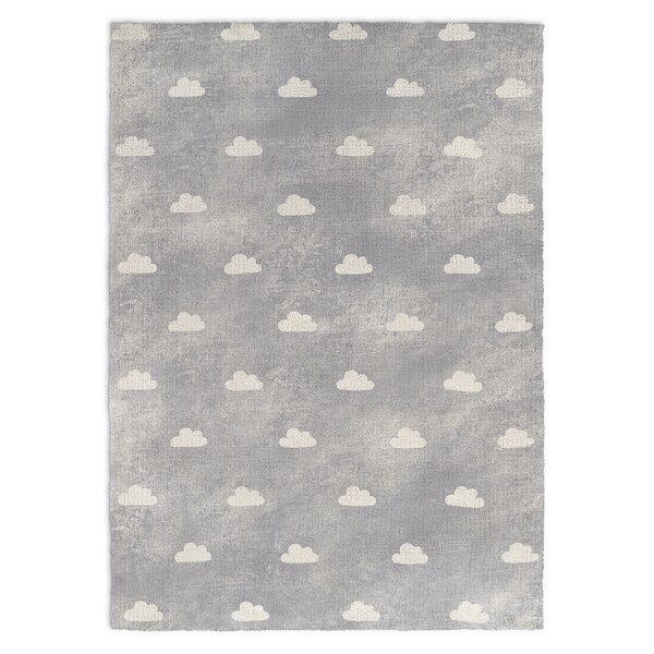 Alzado Gray Area Rug by Harriet Bee