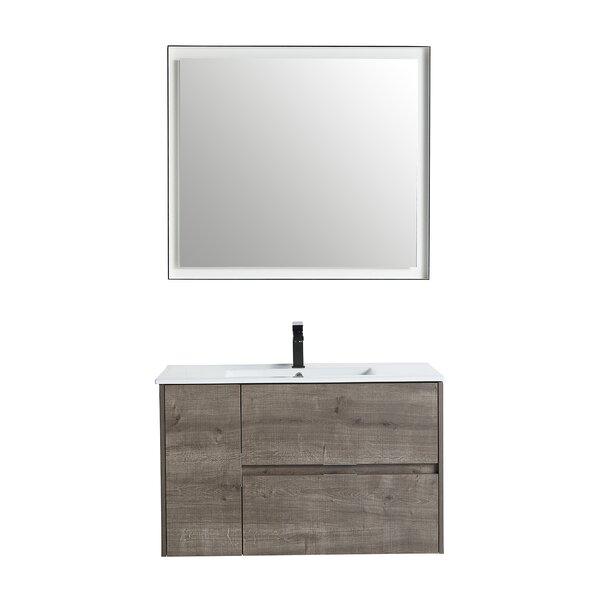Rafn 35 Wall-Mounted Single Bathroom Vanity Set with Mirror