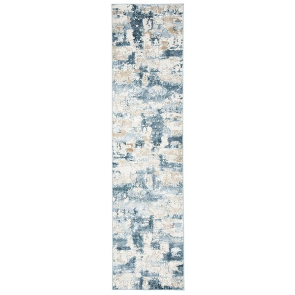 Ellar Beige/Turquoise Area Rug by Williston Forge