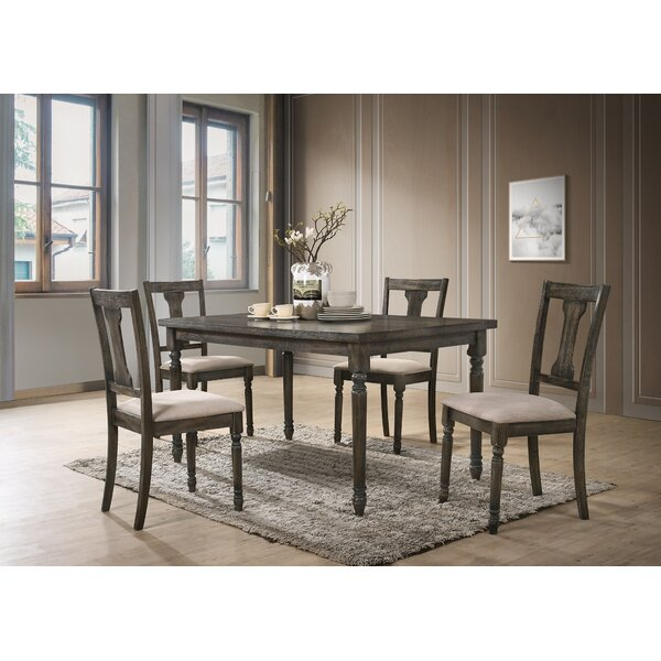 Neal 5 Piece Solid Wood Dining Set by Gracie Oaks