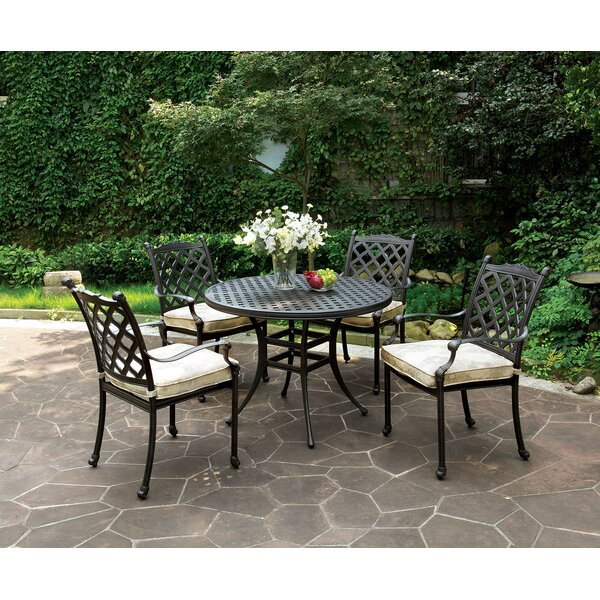 Wlosokova 5 Piece Dining Set with Cushions by August Grove
