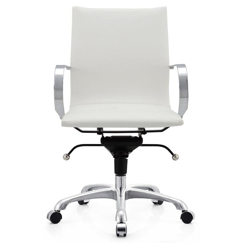 Meelano Leather Desk Chair Amp Reviews Wayfair
