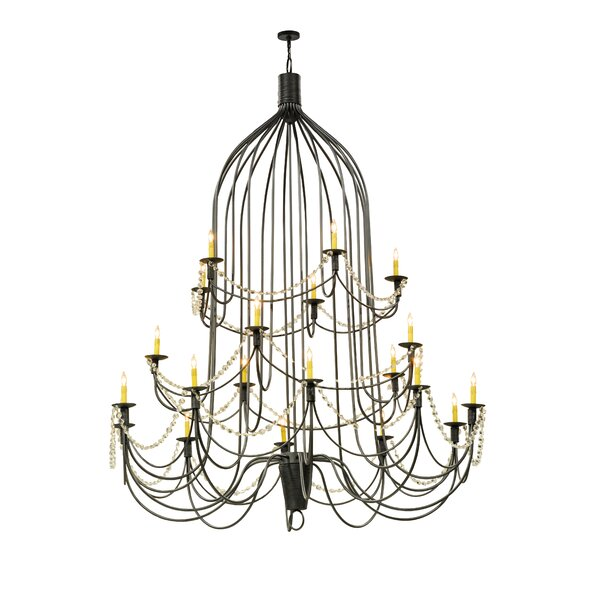 Ruda 20 - Light Candle Style Traditional Chandelier by Red Barrel Studio Red Barrel Studio
