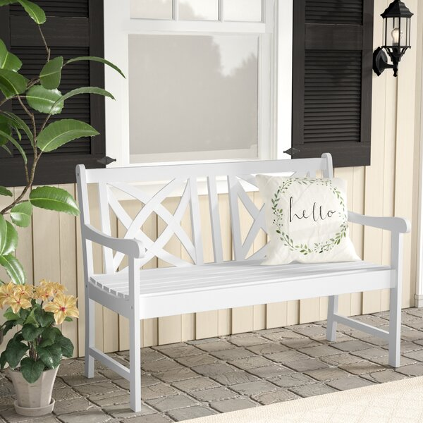 Monterry Wooden Garden Bench by Beachcrest Home