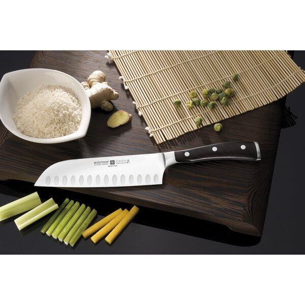 Classic Ikon Hollow Edge Santoku Knife by Wusthof