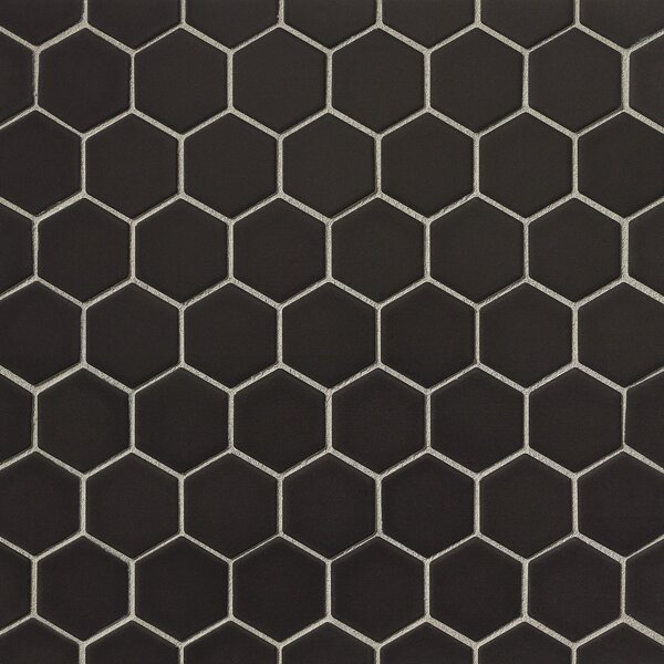 Porcelain Tile in Black by Grayson Martin