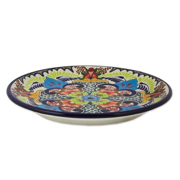 Talavera 10 Handcrafted Ceramic Dinner Plate (Set of 2) by Novica