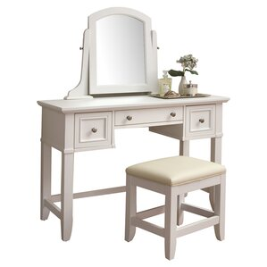 vanity and work desk combo. Belfast Vanity  Stool Set Bedroom Makeup Vanities Joss Main